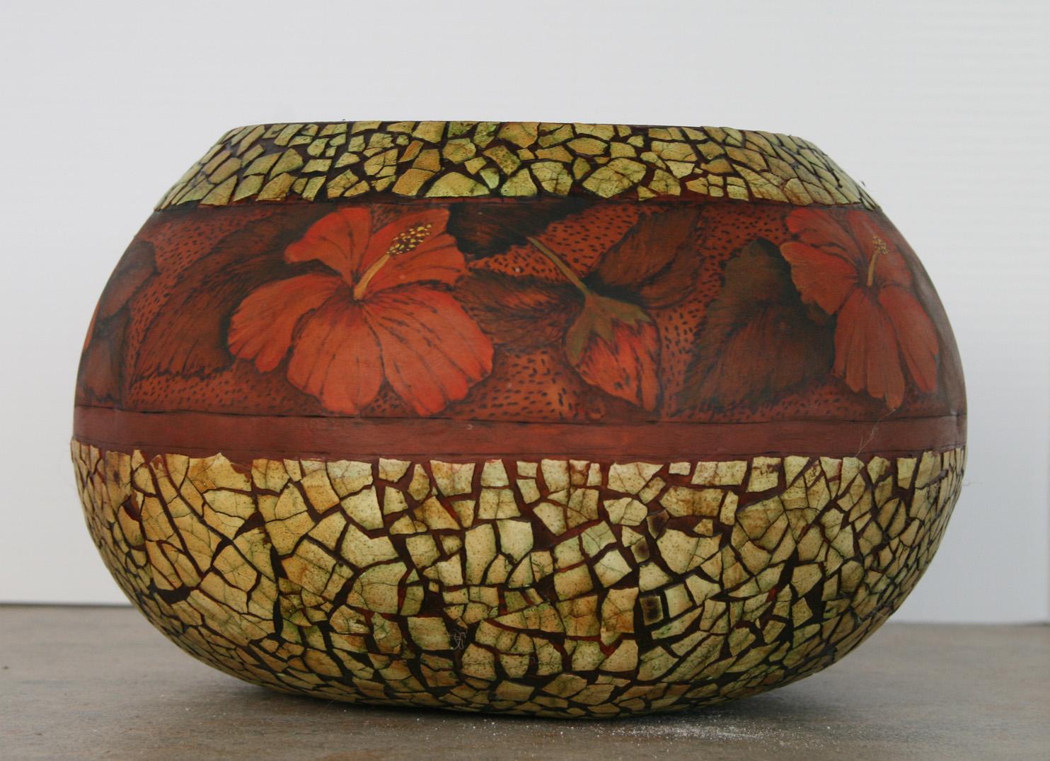 Eggshell mosaic won a merit ribbon