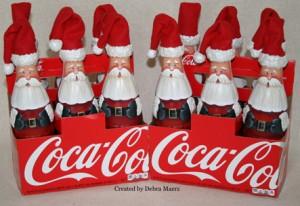 Coke Bottle Santas 2016