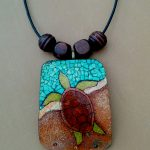 Turtle Necklace with beads